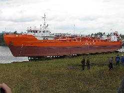 Спуск на воду т/х   «Роскем-1»