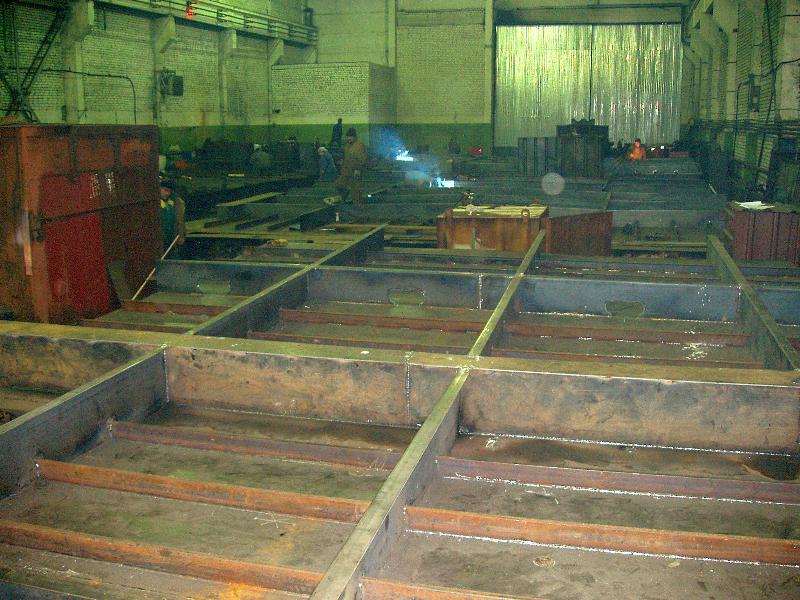 Изготовление секций палубы